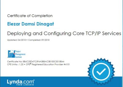 Deploying and Configuring Core TCP IP Services