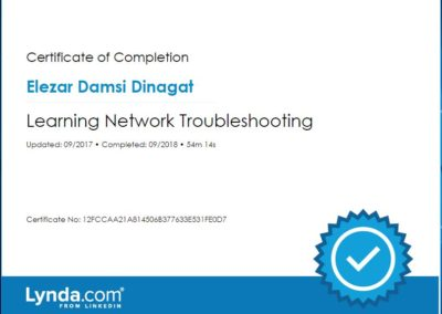 Learning Network Troubleshooting