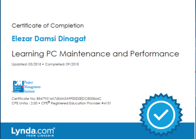 Learning PC Maintenance and Performance